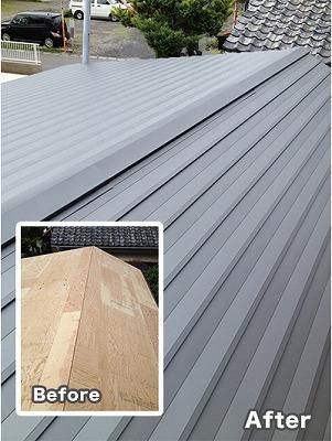 スレート屋根施工例